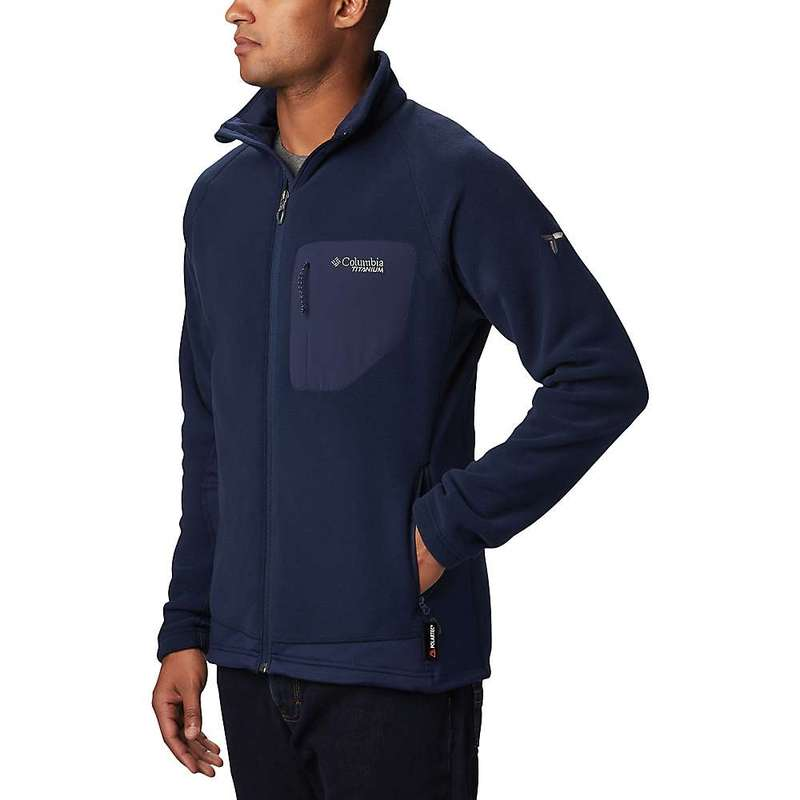 コロンビア メンズ ジャケット・ブルゾン アウター Columbia Men's Titanium Titan Pass 2.0 II Fleece Jacket Collegiate Navy