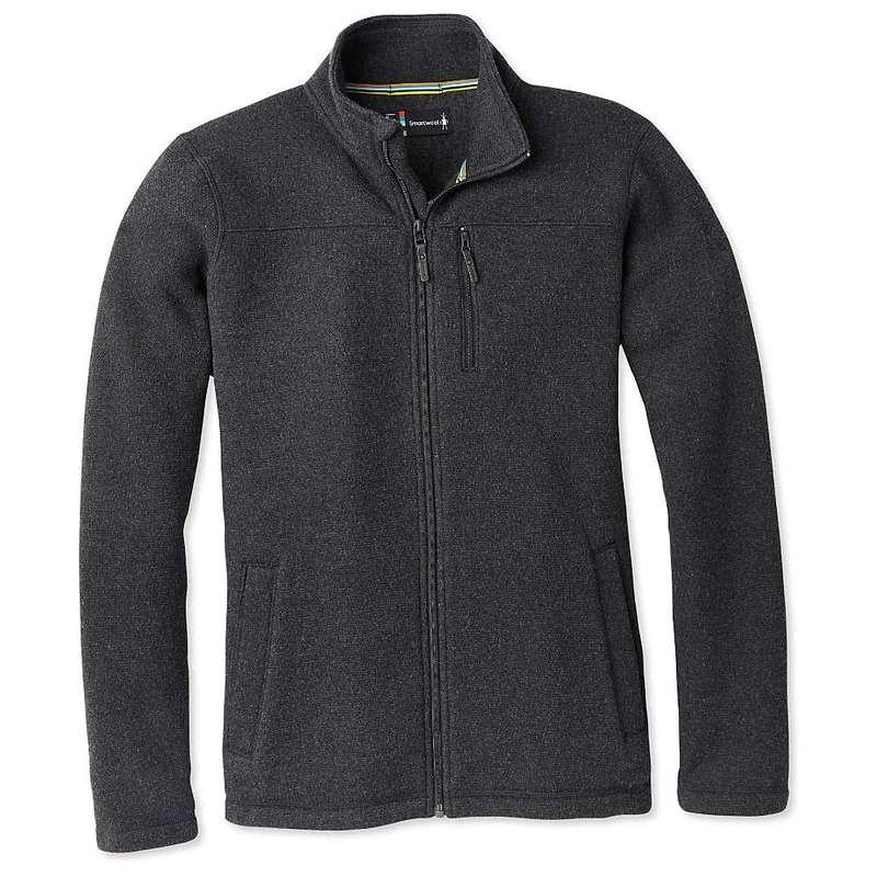スマートウール メンズ ジャケット・ブルゾン アウター Smartwool Men's Hudson Trail Fleece Full Zip Jacket Dark Charcoal