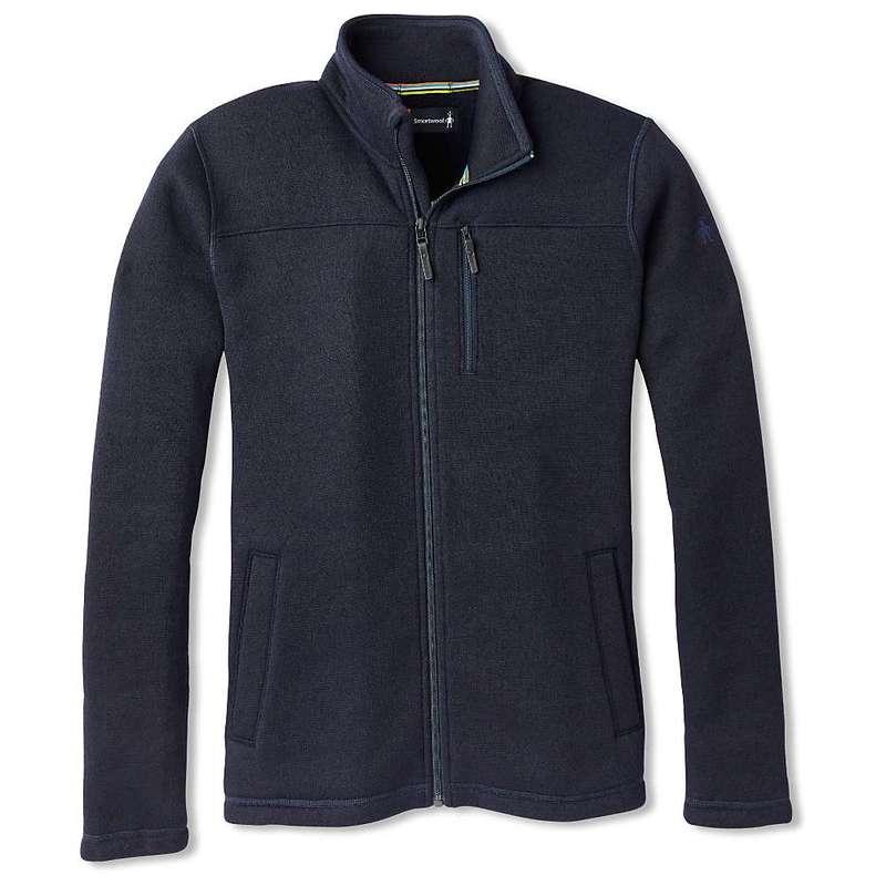 スマートウール メンズ ジャケット・ブルゾン アウター Smartwool Men's Hudson Trail Fleece Full Zip Jacket Navy