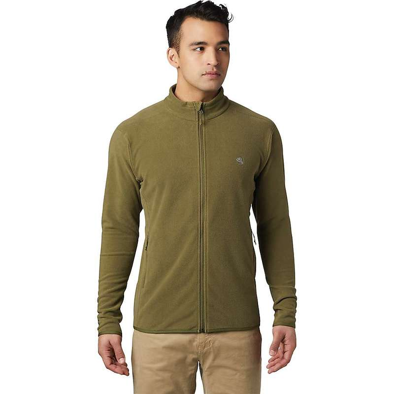 マウンテンハードウェア メンズ ジャケット・ブルゾン アウター Mountain Hardwear Men's Macrochill Full Zip Jacket Combat Green