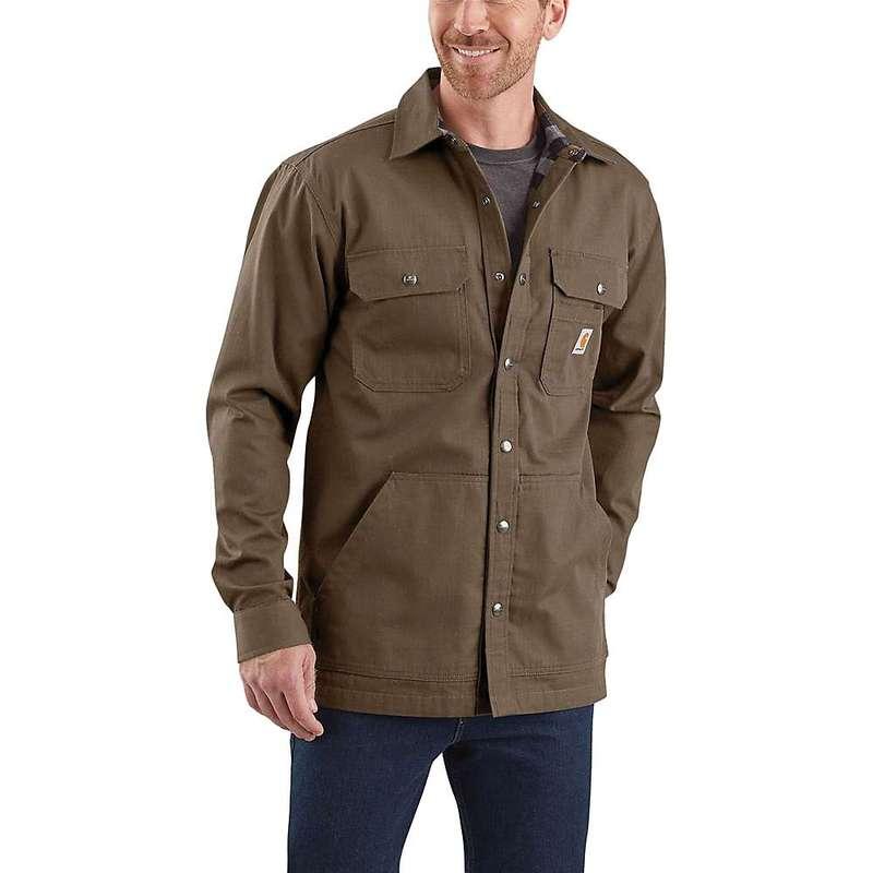 カーハート メンズ ジャケット・ブルゾン アウター Carhartt Men's Ripstop Solid Shirt Jac Canyon Brown