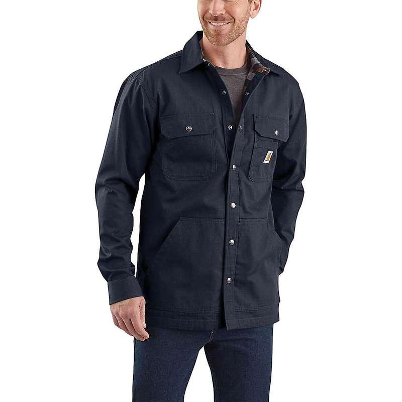 カーハート メンズ ジャケット・ブルゾン アウター Carhartt Men's Ripstop Solid Shirt Jac Navy