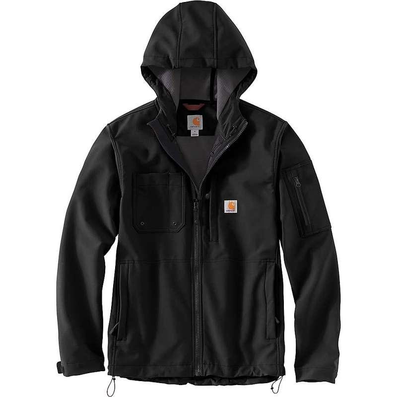 カーハート メンズ ジャケット・ブルゾン アウター Carhartt Men's Rough Cut Hooded Jacket Black