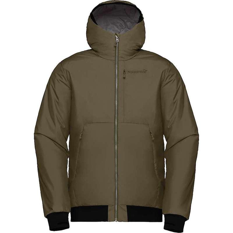 ノローナ メンズ ジャケット・ブルゾン アウター Norrona Men's Roldal Insulated Hooded Jacket Olive Night