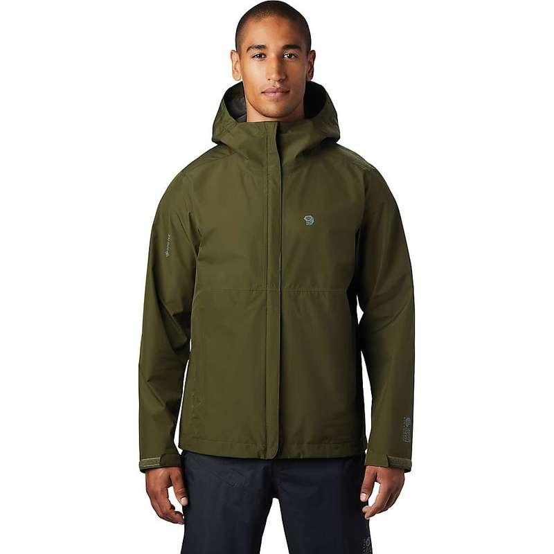 マウンテンハードウェア メンズ ジャケット・ブルゾン アウター Mountain Hardwear Men's Exposure/2 GTX Paclite Jacket Dark Army