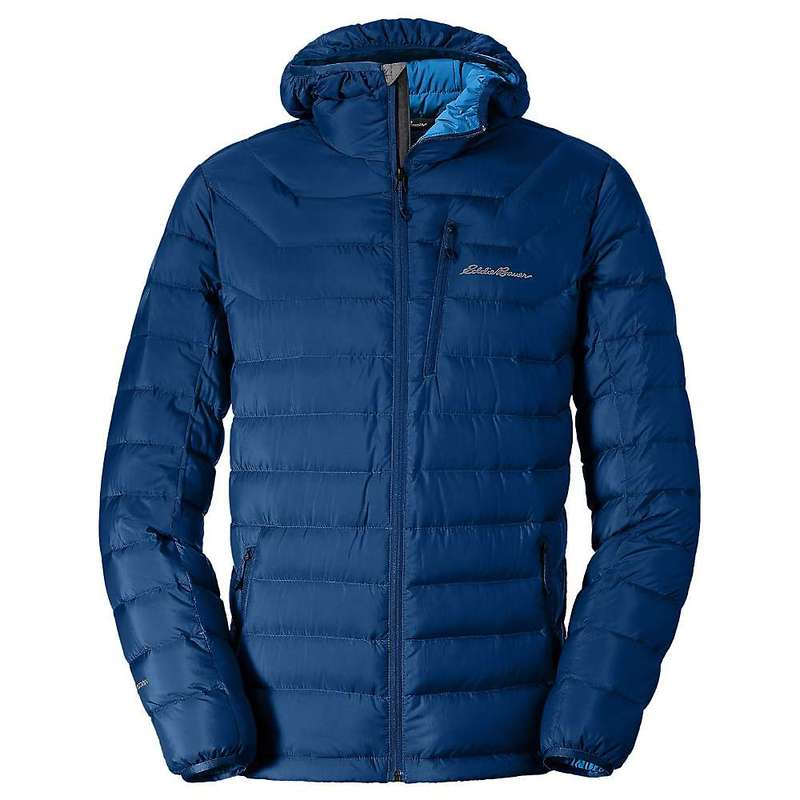 エディー バウアー メンズ ジャケット・ブルゾン アウター Eddie Bauer First Ascent Men's Downlight Stormdown Hooded Jacket Blue