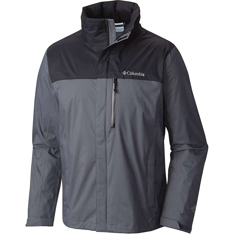 コロンビア メンズ ジャケット・ブルゾン アウター Columbia Men's Pouration Jacket Grey