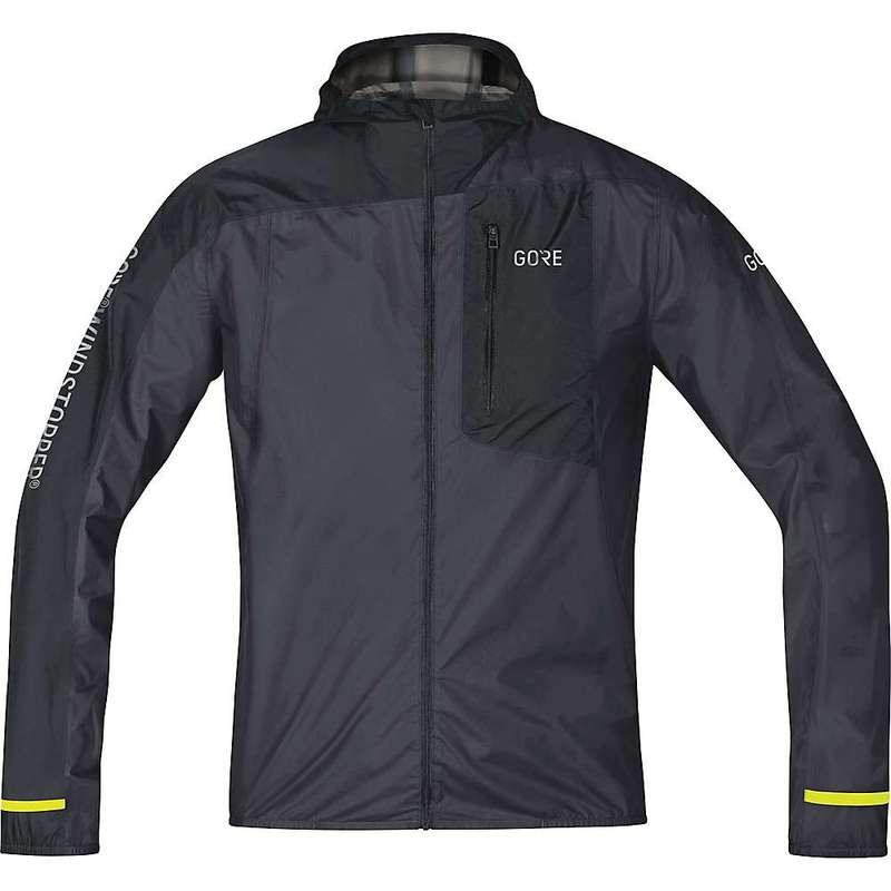 ゴアウェア メンズ ジャケット・ブルゾン アウター Gore Wear Men's R7 Gore Windstopper Light Hooded Jacket Terra Grey / Black