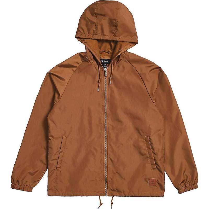 ブリクストン メンズ ジャケット・ブルゾン アウター Brixton Men's Claxton Windbreaker Jacket Bison