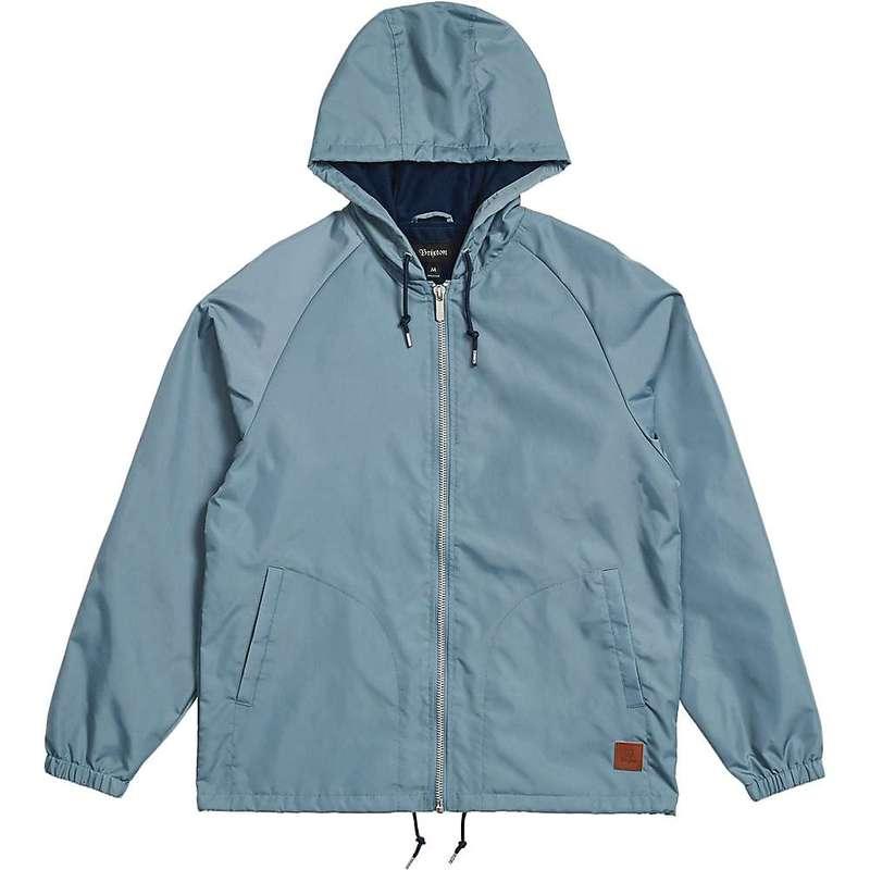ブリクストン メンズ ジャケット・ブルゾン アウター Brixton Men's Claxton Windbreaker Jacket Blue Haze