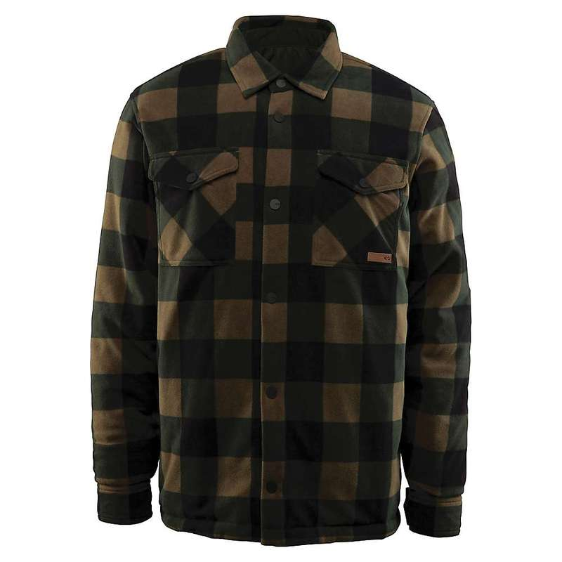 サーティーツー メンズ ジャケット・ブルゾン アウター Thirty Two Men's Drifter Reversible Fleece Jacket Charcoal