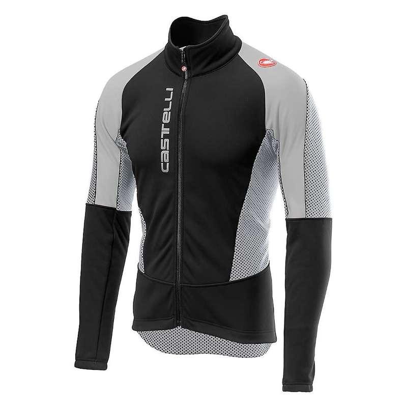 カステリ メンズ ジャケット・ブルゾン アウター Castelli Men's Mortirolo V Jacket Black / Silver Gray