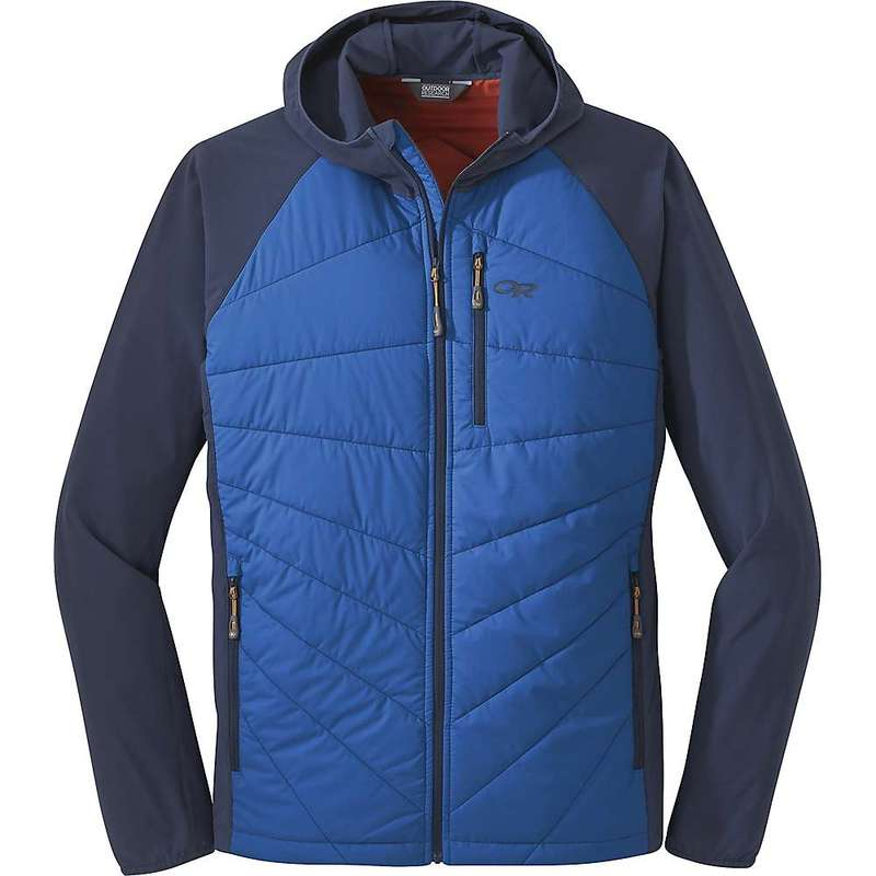 アウトドアリサーチ メンズ ジャケット・ブルゾン アウター Outdoor Research Men's Refuge Hybrid Hooded Jacket Cobalt/Naval Blue