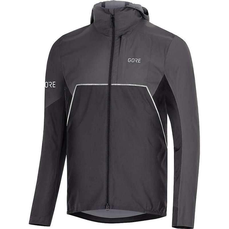 ゴアウェア メンズ ジャケット・ブルゾン アウター Gore Wear Men's R7 Partial GTX Infinium Hooded Jacket Black / Terra Grey