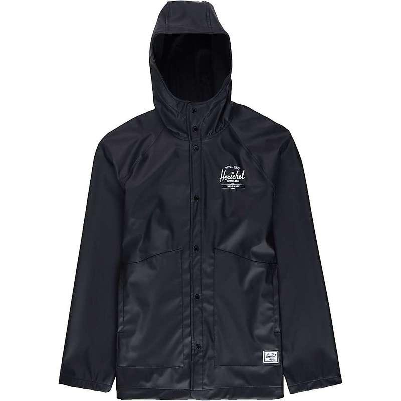 ハーシャル メンズ ジャケット・ブルゾン アウター Herschel Supply Co Men's Classic Rain Jacket Black/White Classic Logo 2