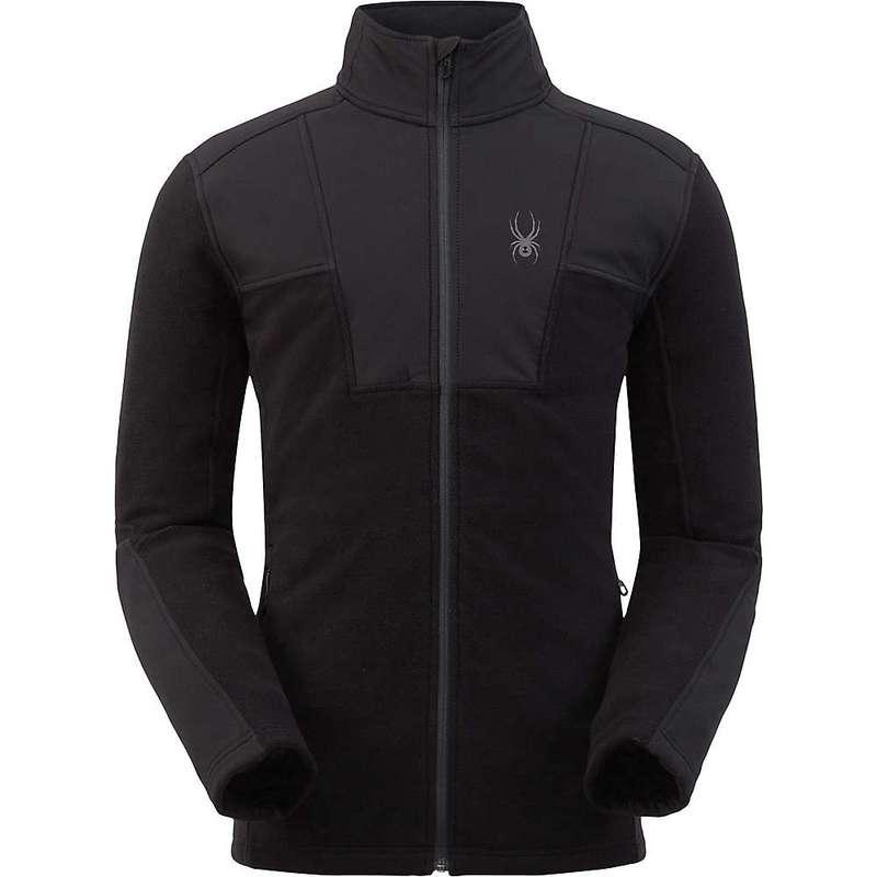 スパイダー メンズ ジャケット・ブルゾン アウター Spyder Men's Basin Full Zip Fleece Jacket Black