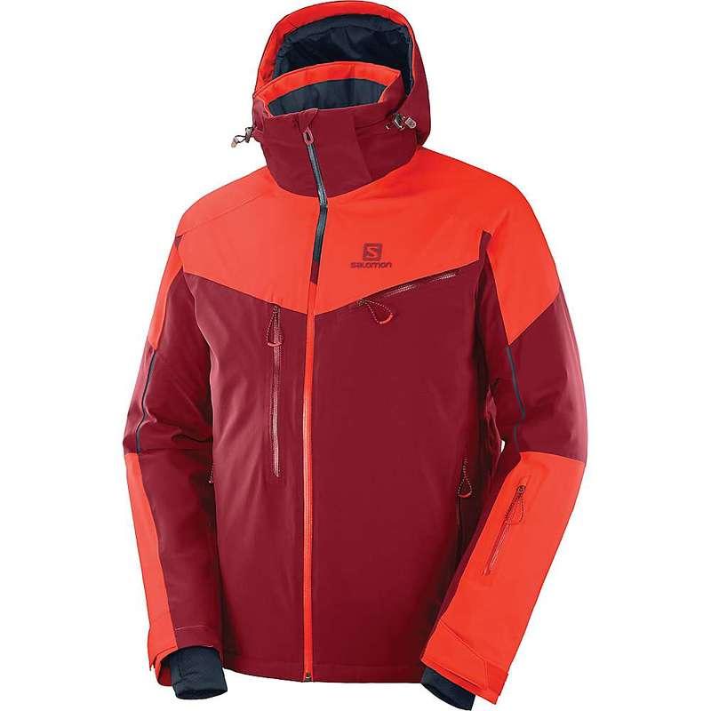 サロモン メンズ ジャケット・ブルゾン アウター Salomon Men's Icespeed Jacket Biking Red / Cherry Tomato