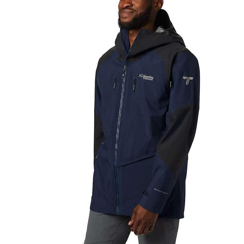 コロンビア メンズ ジャケット・ブルゾン アウター Columbia Men's Titanium Snow Rival Shell Jacket Collegiate Navy / Black