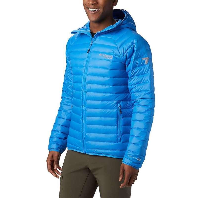 コロンビア メンズ ジャケット・ブルゾン アウター Columbia Men's Titanium Alpha Trail Down Hooded Jacket Azure Blue