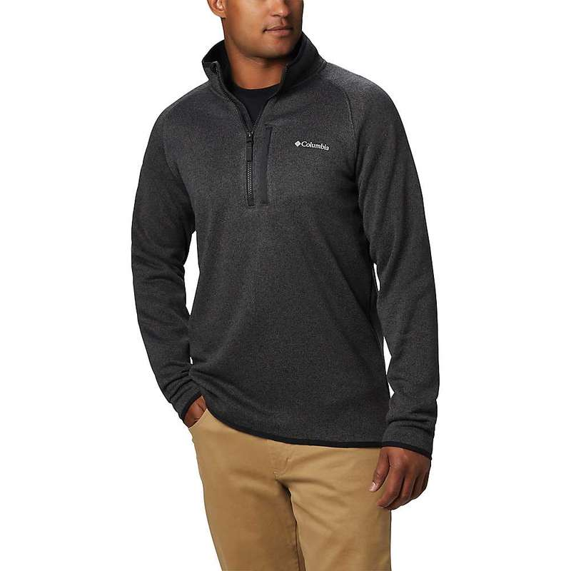 コロンビア メンズ ジャケット・ブルゾン アウター Columbia Men's Canyon Point Sweater Fleece 1/2 Zip Black