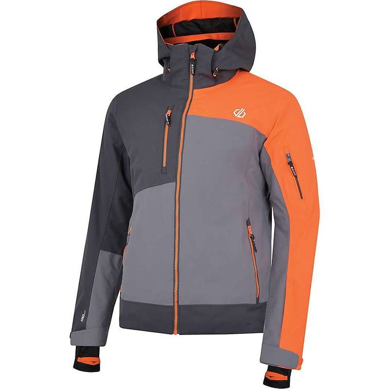 デアツービー メンズ ジャケット・ブルゾン アウター Dare 2B Men's Travail Pro Jacket Aluminium Grey / Ebony Grey / Clementine Orange