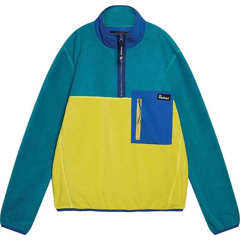 ペンフィールド メンズ ジャケット・ブルゾン アウター Penfield Men's Hynes Fleece Dark Teal / Citrus Green / Sportswear Blue