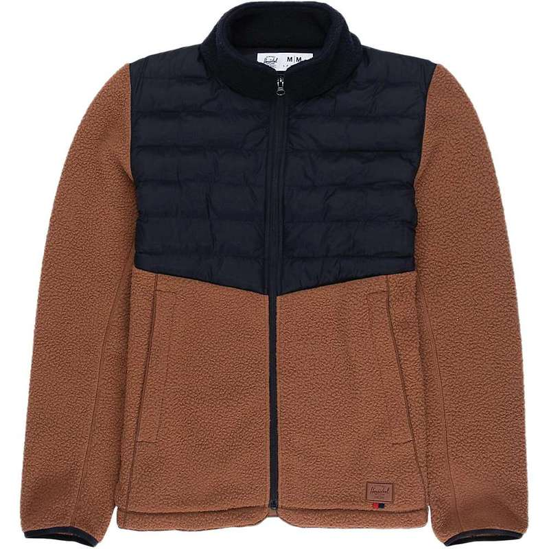 ハーシャル メンズ ジャケット・ブルゾン アウター Herschel Supply Co Men's Hybrid Sherpa Full Zip Saddle Brown/Black