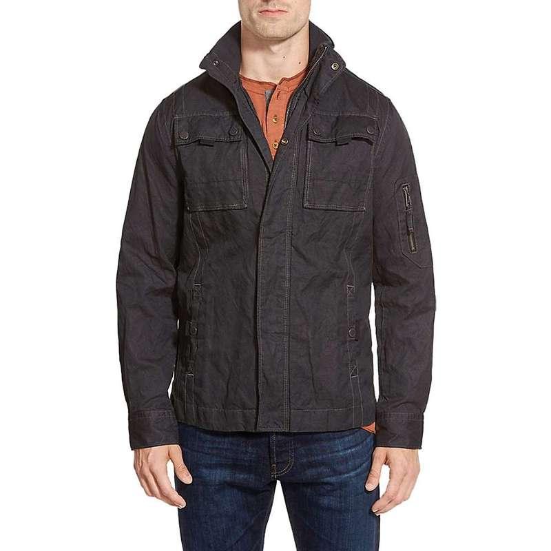 ジェレミア メンズ ジャケット・ブルゾン アウター Jeremiah Men's Thorne Coated Canvas Jacket Black
