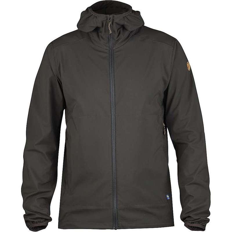 フェールラーベン メンズ ジャケット・ブルゾン アウター Fjallraven Men's Abisko Hybrid Breeze Jacket Dark Grey