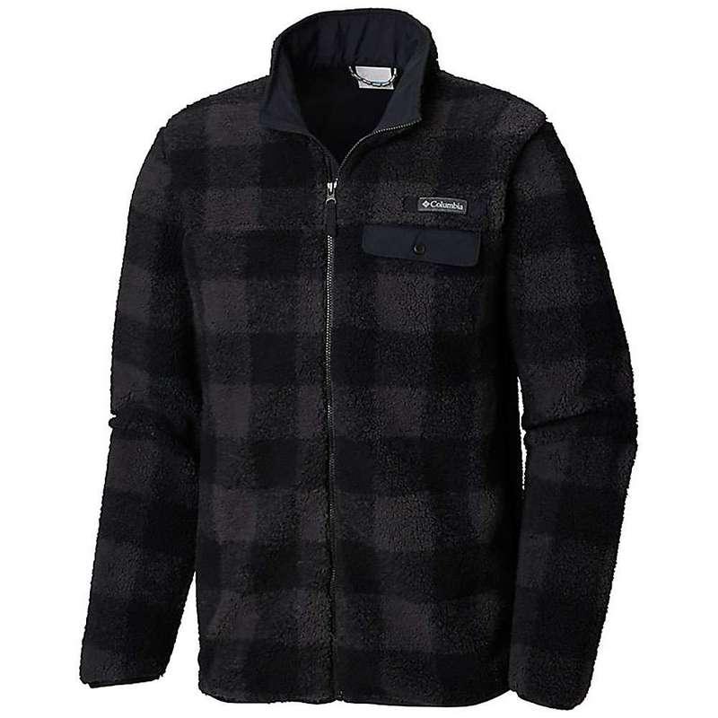 コロンビア メンズ ジャケット・ブルゾン アウター Columbia Men's Mountain Side Heavyweight Full Zip Fleece Jacket Black Plaid