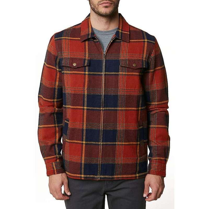 オニール メンズ ジャケット・ブルゾン アウター O'Neill Men's Lodge Flannel Jacket Burnt Orange