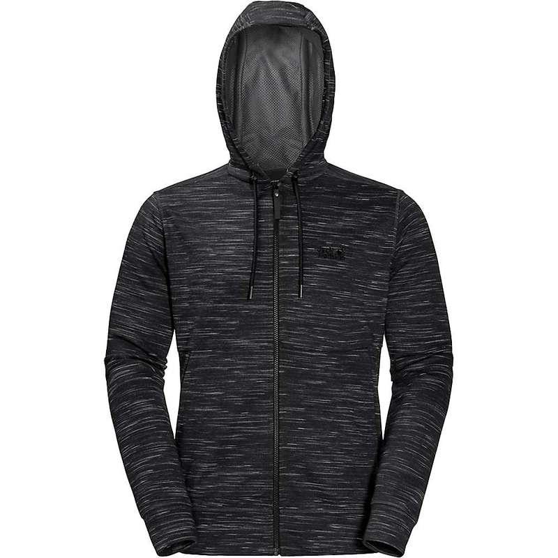 ジャックウルフスキン メンズ ジャケット・ブルゾン アウター Jack Wolfskin Men's Oceanside Hooded Jacket Black