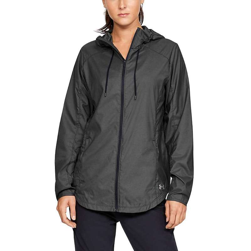アンダーアーマー メンズ ジャケット・ブルゾン アウター Under Armour Women's UA Prevail Windbreaker Black / Black / Tetra Gray