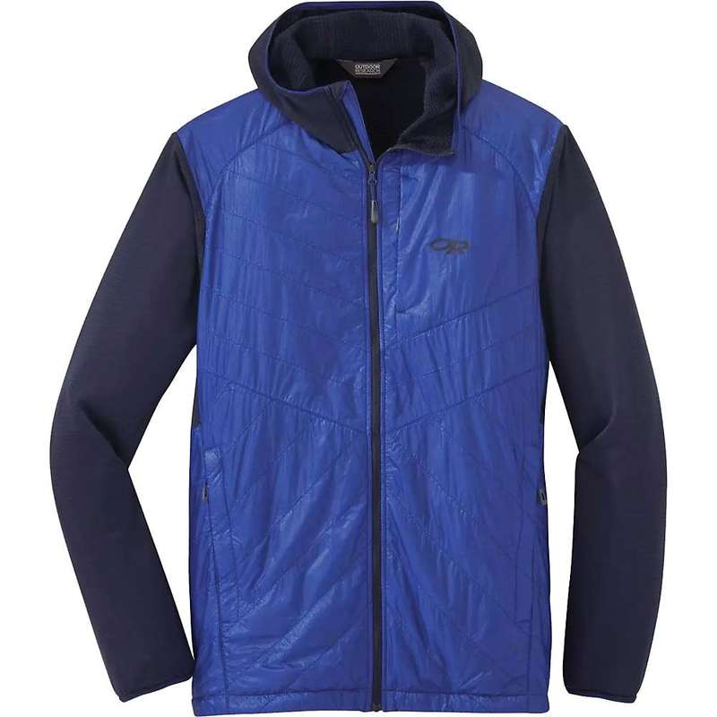 アウトドアリサーチ メンズ ジャケット・ブルゾン アウター Outdoor Research Men's Vigor Hybrid Hooded Jacket Ink / Sapphire