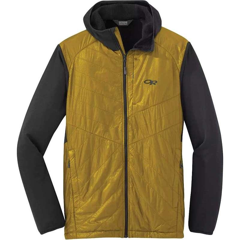アウトドアリサーチ メンズ ジャケット・ブルゾン アウター Outdoor Research Men's Vigor Hybrid Hooded Jacket Storm / Turmeric