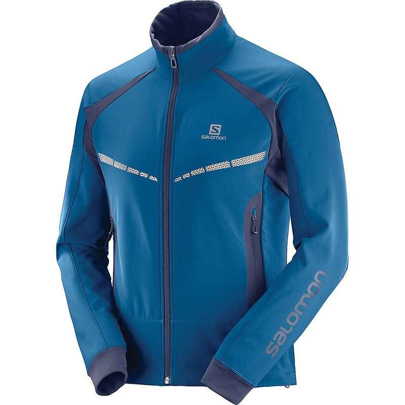 サロモン メンズ ジャケット・ブルゾン アウター Salomon Men's RS Warm Softshell Jacket Poseidon / Night Sky