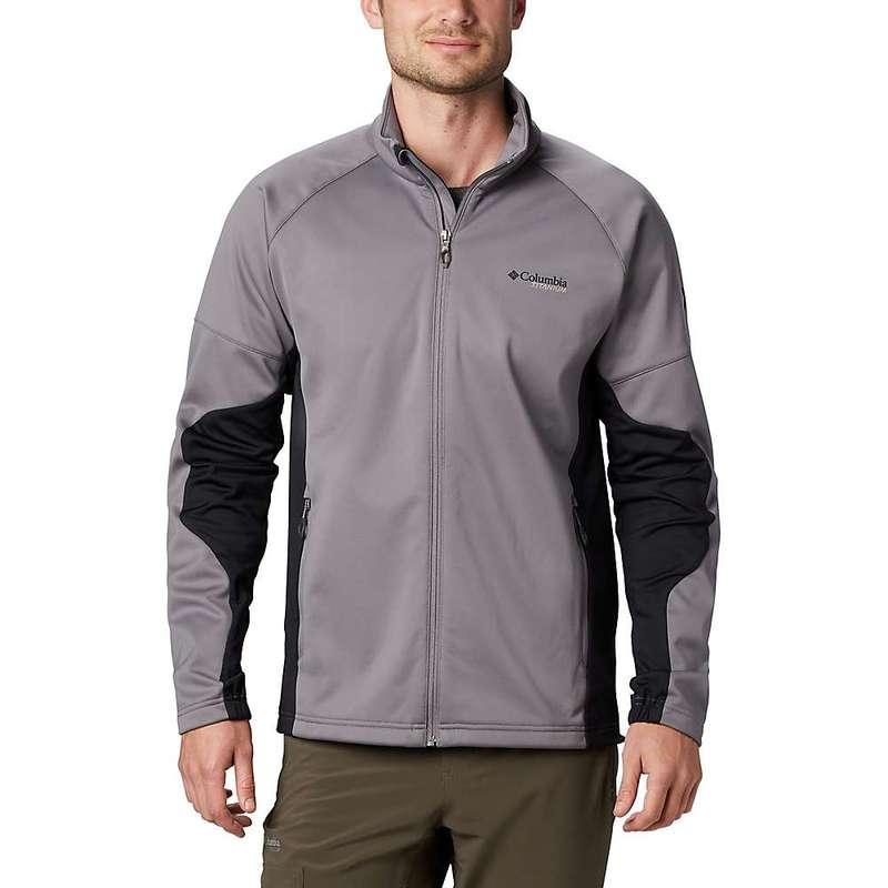 コロンビア メンズ ジャケット・ブルゾン アウター Columbia Men's Titanium Mount Defiance Wind Fleece Jacket City Grey/Black