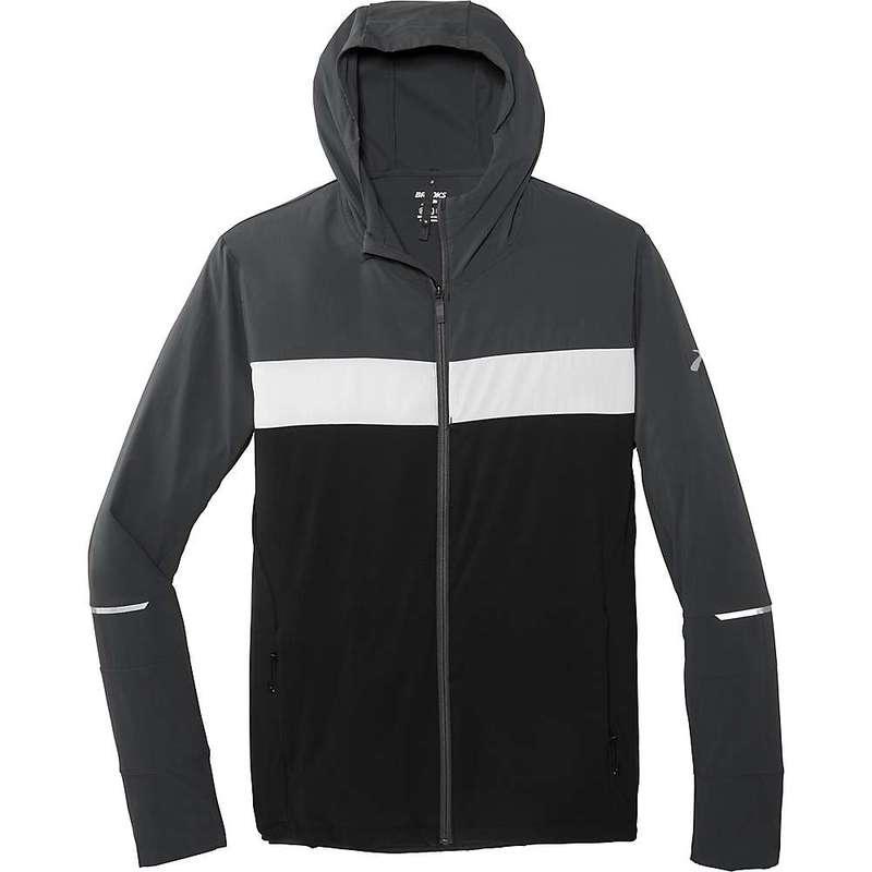 ブルックス メンズ ジャケット・ブルゾン アウター Brooks Men's Canopy Jacket Black / Asphalt / Sterling