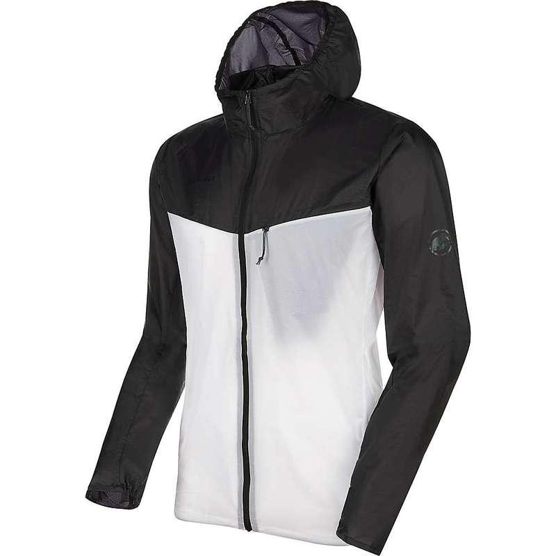 マムート メンズ ジャケット・ブルゾン アウター Mammut Men's Convey WB Hooded Jacket Black/Bright White
