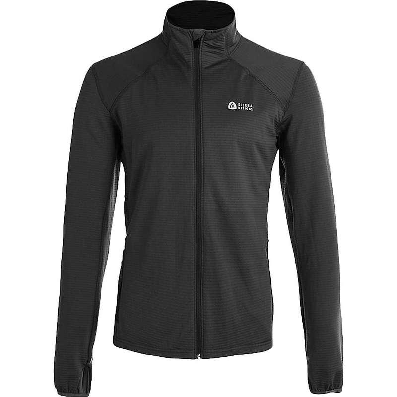 シェラデザインズ メンズ ジャケット・ブルゾン アウター Sierra Designs Men's Cold Canyon Full Zip Fleece Black/Black