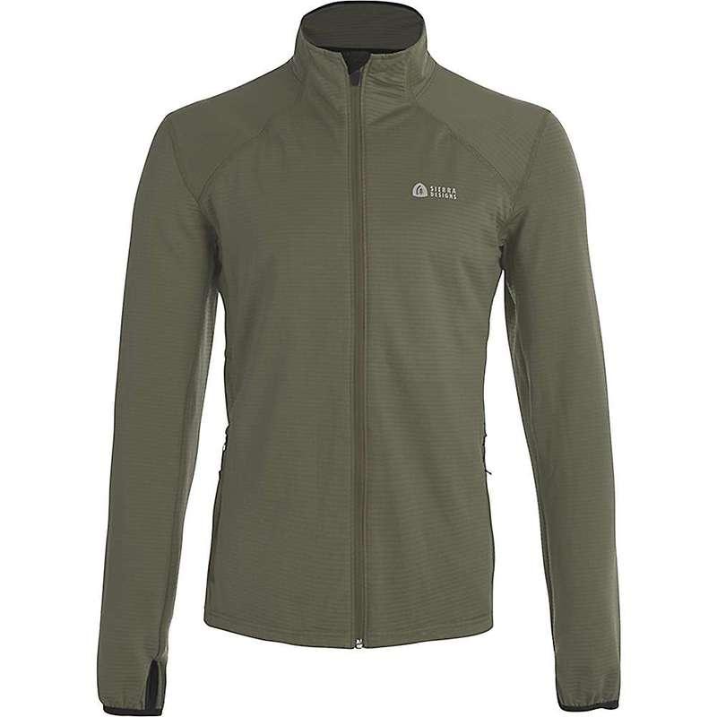 シェラデザインズ メンズ ジャケット・ブルゾン アウター Sierra Designs Men's Cold Canyon Full Zip Fleece Olive/Black