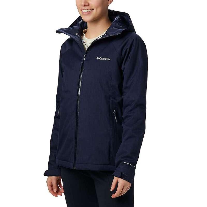 コロンビア レディース ジャケット・ブルゾン アウター Columbia Women's Top Pine Insulated Rain Jacket Dark Nocturnal Melange