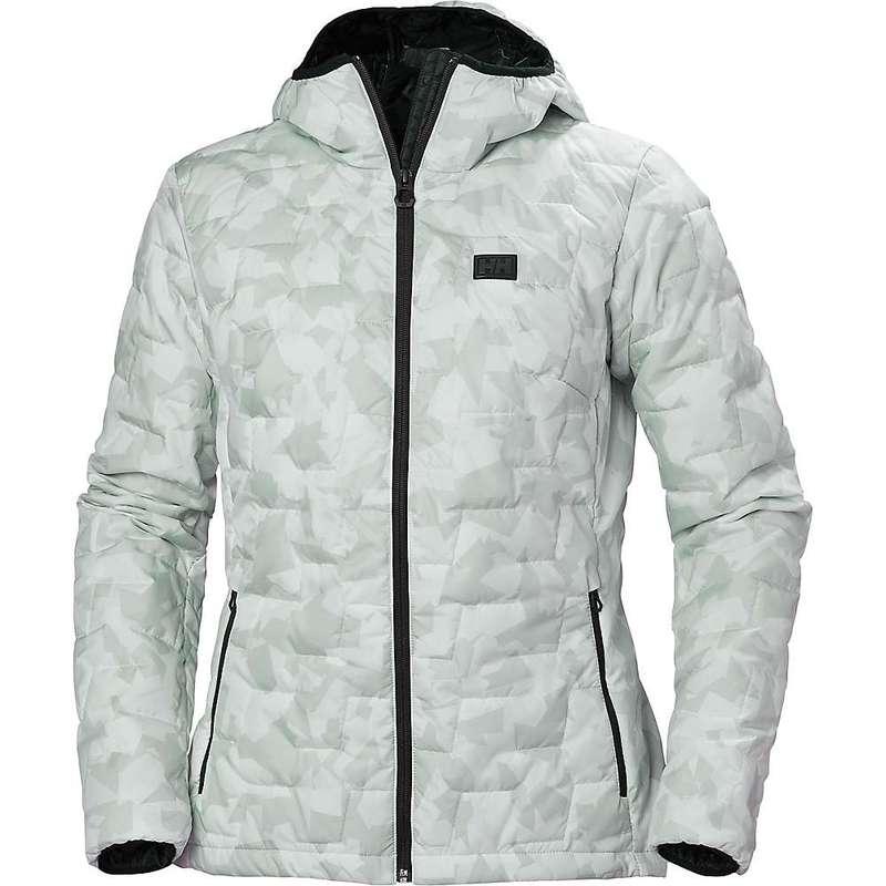 ヘリーハンセン レディース ジャケット・ブルゾン アウター Helly Hansen Women's Lifaloft Hooded Insulator Jacket Grey Fog Camo