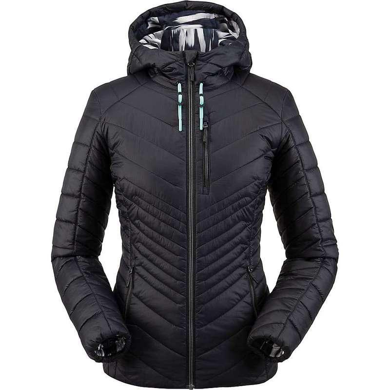 スパイダー レディース ジャケット・ブルゾン アウター Spyder Women's Glissade Hoodie Insulator Jacket Black