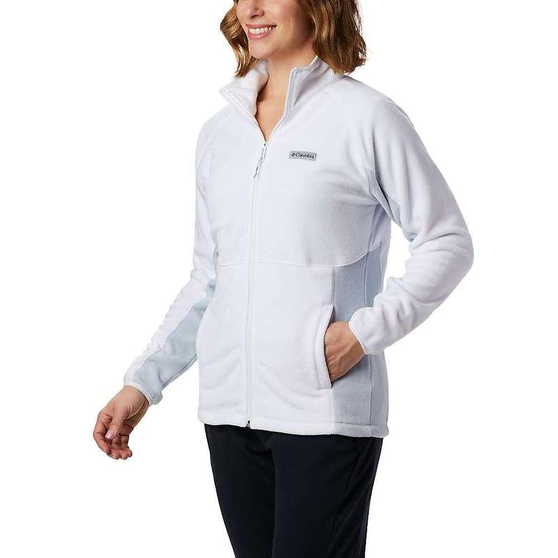 コロンビア レディース ジャケット・ブルゾン アウター Columbia Women's Basin Trail Fleece Full Zip White / Cirrus Grey