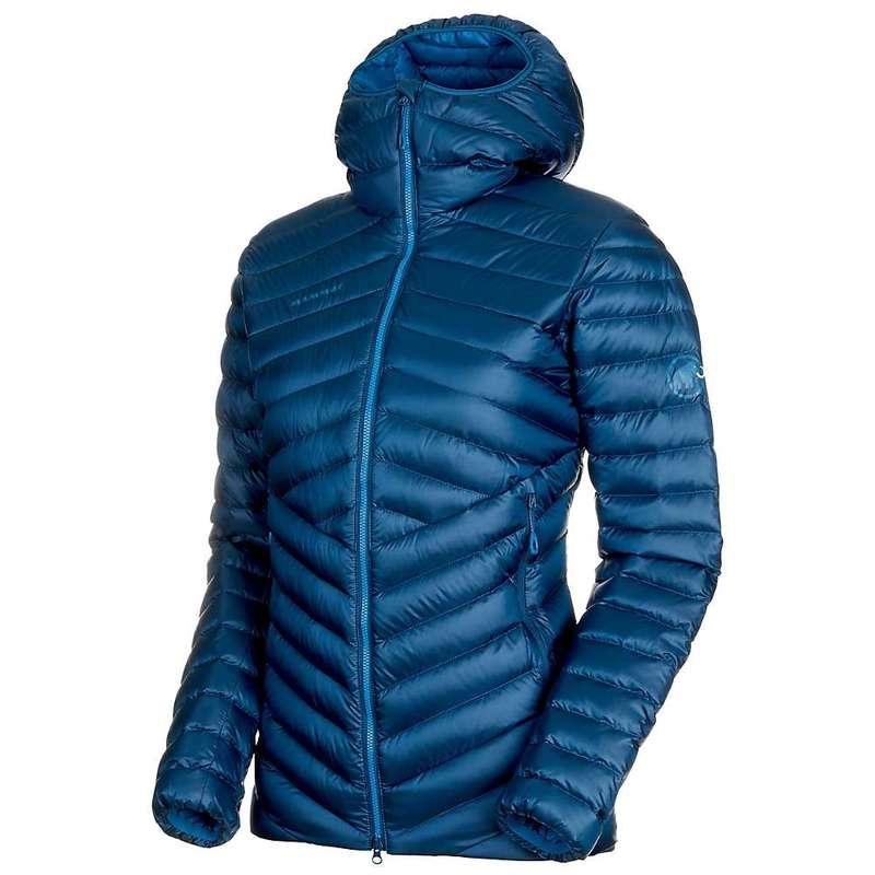マムート レディース ジャケット・ブルゾン アウター Mammut Women's Broad Peak IN Hooded Jacket Wing Teal / Sapphire
