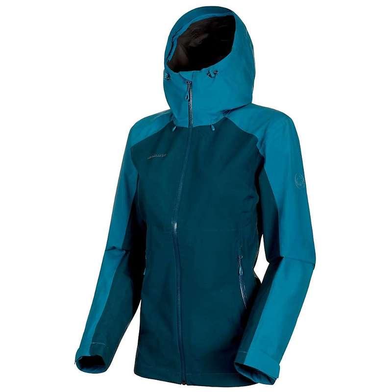 マムート レディース ジャケット・ブルゾン アウター Mammut Women's Convey Tour HS Hooded Jacket Wing Teal / Sapphire
