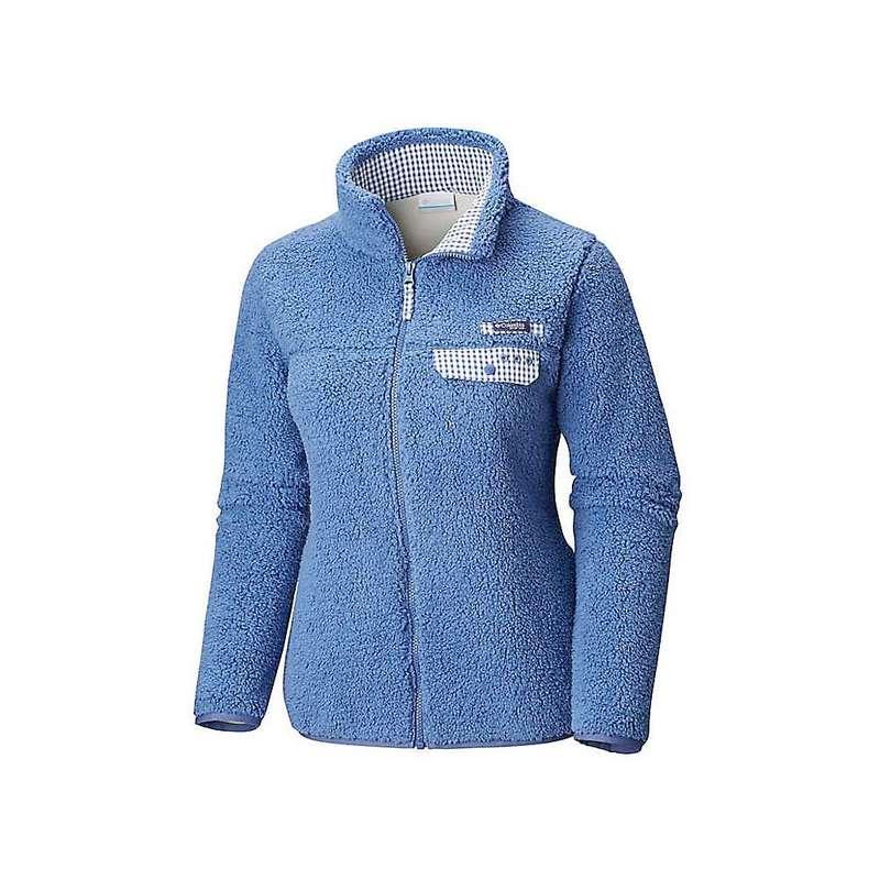 コロンビア レディース ジャケット・ブルゾン アウター Columbia Women's Harborside Heavy Weight Full Zip Fleece Jacket Bluebell / Bluebell Gingham