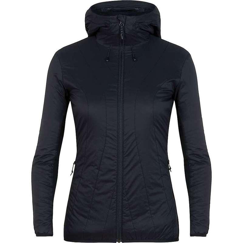 アイスブレーカー レディース ジャケット・ブルゾン アウター Icebreaker Women's Hyperia Lite Hybrid Hooded Jacket Black