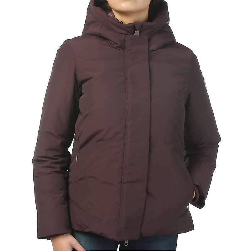 セイブ ザ ダック レディース ジャケット・ブルゾン アウター Save The Duck Women's Faux Fur Lined Parka Jacket 1250 Burgundy Black